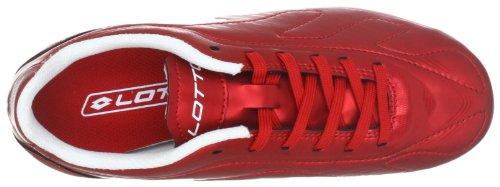 Lotto Futura 500 Fg Jr, Chaussures de sport mixte enfant Rouge (Risk Red/White)