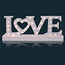 Sentik battery Opera Ted 34 LED Wooden love Sign Light Plaque Decoration Gift by Sentik