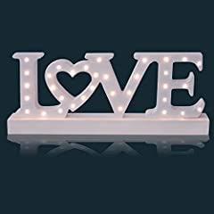 Idea Regalo - Sentik Battery Operated 34 LED Wooden Love Sign Light Plaque Decoration Gift by Sentik