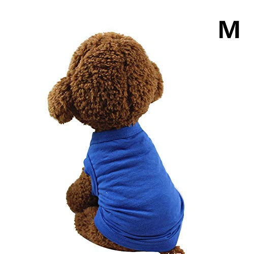Alexsix Haustier Hemden Super Süß Welpe T-Shirt Kisses Gedruckt Hunde Sommer Weste Kostüm Katze Tank Top - Blau, M (Themed Kostüm M)
