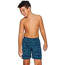 Zoggs Boys Swimming Shorts, Navy/Multi-Color, 10-11 years