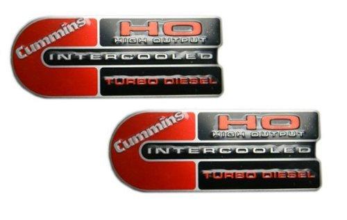 2 x (pair/set) Ram 2500/3500 Cummins HO Diesel Engine Badge Emblem (Cummins Engine)