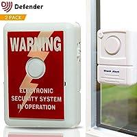 Alarma para ventana Defender con pegativa para disuadir robos, tecnología de sensor de choque 110
