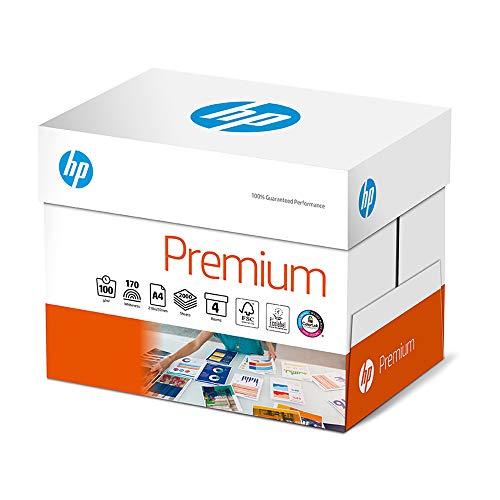 HP Druckerpapier Premium CHP 854: 100g, A4, 2.000 Blatt (4x500), Extraglatt, Weiß - Intensive Farben, Scharfes Schriftbild - Hp Inkjet-laser-drucker