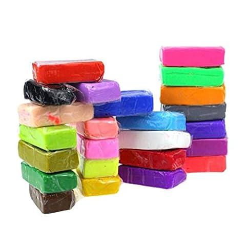 Transer® DIY Spielzeug für kids- 5Werkzeuge + 24Farben Polymer Clay