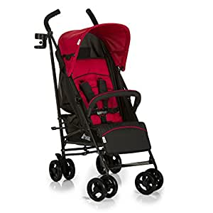 Hauck Speed Plus 4 Wheel Umbrella Fold Pushchair with Raincover, Red/Black