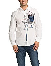 Desigual In Nova - Chemise casual - Taille normale - Col classique - Manches longues - Homme