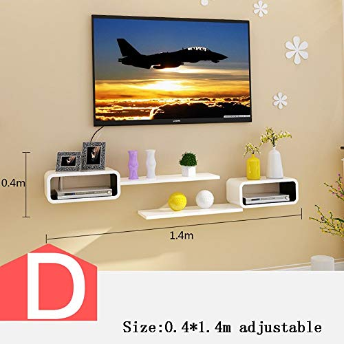 QiXian Tv Cabinet Set - Top Box Regale Wand Box Wohnzimmer Wand Wanddekoration Schlafzimmer Partitionen Dekorative Racks (Mehrere Stile Verfügbar) Wandkunst, d -