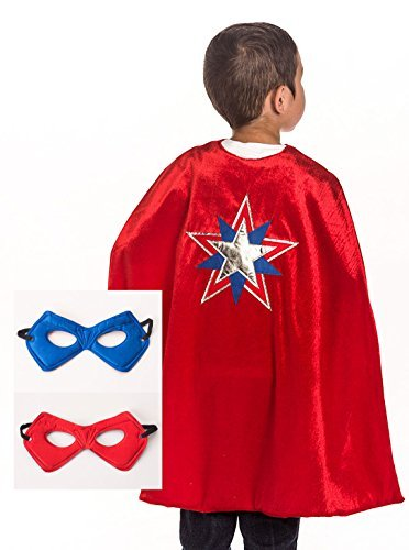 Little Adventures Super Hero Cape & Mask für Jungen - Amerikanischer (Herren Kostüme Helden Super)