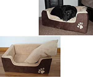 Luxury Large Memory Foam Pet Bed 90x60x25cms (1018) Faux Suede Dog Bed - Deluxe Dog Bed from Manufactured for Good Ideas