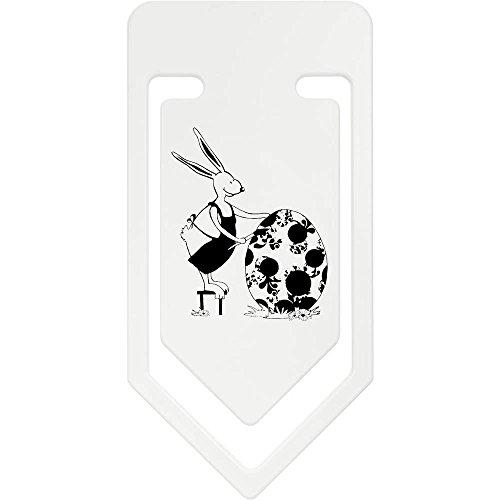 Azeeda 141mm 'Kaninchen Malerei Ei' Riesige Plastik Büroklammer (CC00007422)