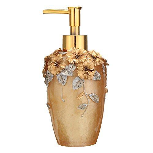 350ml Fassungsvermögen Seifenspender Seifendosierer Bad Accessoires Gold