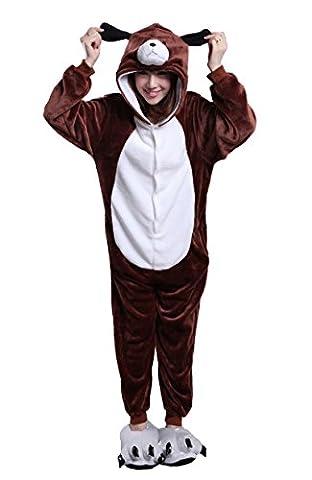 Honeystore Unisex Braun Hund Pyjamas Halloween Siamesische Kleidung Kostüm Cosplay Party M (Gute Halloween-kostüme Für Gruppe 3)