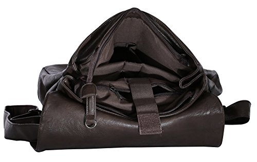 Big Handbag Shop, Borsa a zainetto donna Backpack Style 3 - Black