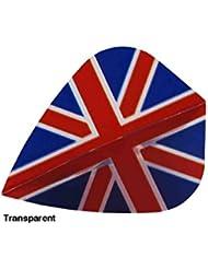 Union Jack cometa con forma de Poly–Lote de plumas para dardos 5o 10conjuntos, 10 Sets