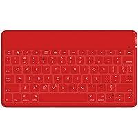 Logitech Keys-To-Go Ultra-portable Tastatur für iPad, iPhone, Apple TV und vieles mehr(QWERTZ, deutsches Tastaturlayout), rot