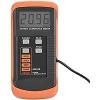 Akozon Medidor de luminancia de pantalla portátil, Medidor de luminosidad con mini detector de luz 0.01-39990 cd/m