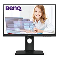 BenQ GW2480 23.8 Inch FHD 1080p Eye-Care LED Monitor, 1920x1080 Display, IPS ,Brightness Intelligence, Low Blue Light, Flicker-free, Ultra Slim Bezel, Cable  Management System, HDMI