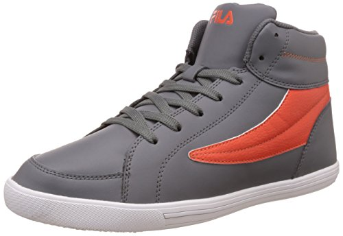 Fila Men's Streeter Dark Grey and Orange Sneakers - 8 UK/India (42 EU)