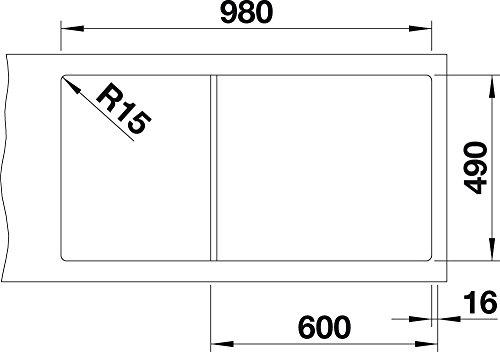 Blanco ZENAR XL 6 S DampfgarPlus, Küchenspüle, Granitspüle aus Silgranit PuraDur inklusiv Glasschneidbrett, 1 Stück, anthrazit-schwarz, 521227 - 5
