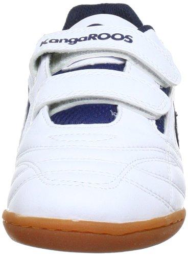 KangaROOS Backyard, Scarpe da ginnastica Unisex bambini Bianco (Weiß (wht/dk.navy/brightapricot 48))