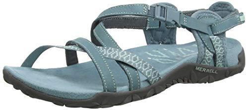 Merrell Terran Lattice II Sandali con Cinturino alla Caviglia Donna, Grigio Blue Smoke, 39 EU