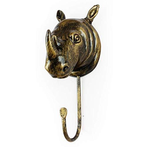 Gancho para colgar en la pared, Cabeza de vaca Decoración en la pared Gancho en la puerta del dormitorio Parte posterior en la cubierta Gancho en gancho Individual Retro Animal Key Hook ( color : F )