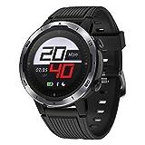 GRDE Sport Smartwatch GPS-Laufuhr 5ATM Wasserdicht Fitness Tracker mit Touchscreen Herzfrequenzmessung 7Sportmodi (Indoor&Outdoor) Smart Notifications Kompaß Timer GPS-Fitness-Smartwatch(2020 Neuste)