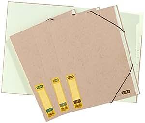 Elba Touareg Trieur A4 en rembord papier 12 Positions Beige naturel