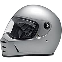 Casco Helmet integral Biltwell Lane divisor approvazione Dot y homologado ECE Europa Italia Plata Mate Flat Silver similar Gringo New Retro Epoca Café Racer ...