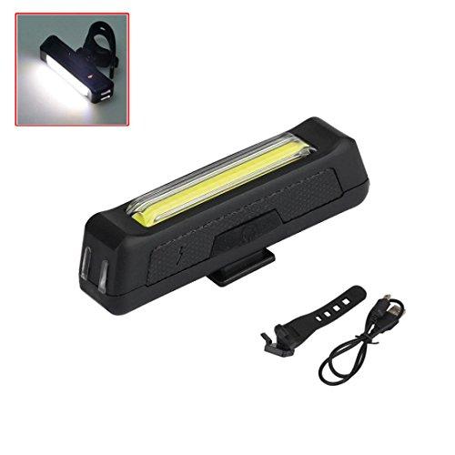 Bike Lights , Ouneed 6 Modi Weiß COB 1 LED Fahrrad Fahrrad Vorne Hinten Licht USB Wiederaufladbare Batterie (B)