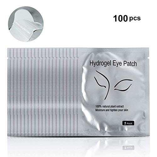 Yosoo 100 Paio Gel Cerotto/Maschera dei Occhi,Eye Mask l'occhio Gel Patches,Strumenti di Bellezza da Ciglia Finte,Benda Sull'Occhio del Collagene