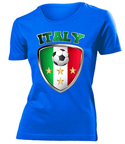 Italien Italia Italy Fan t Shirt Artikel 4659 Fuss Ball World Cup Maglia EM 2020 WM 2022 Trikot Look Flagge Fahne Team Frauen Damen Mädchen S