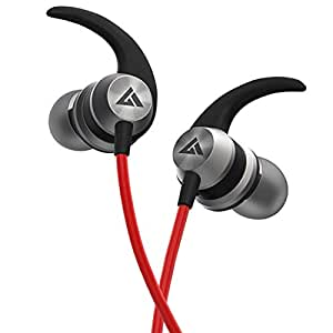 Boult Audio BassBuds X1 in-Ear Wired Earphones with Mic and 10mm Powerful Driver for Extra Bass and HD Sound (Red)