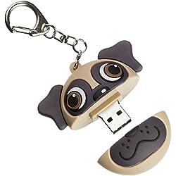 Memoria flash USB de 8 GB con accesorio de llavero, diseño doguillo