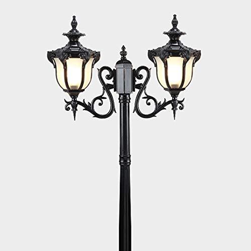 Candelabro 2 brazos,Lámpara mástil negro aluminio