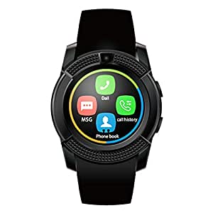 Mobilefit Asus Zenfone 5 A501CG Compatible Bluetooth Smartwatch (BLACK) with SIM Card Support | Android 5. 1 OS | Facebook | Whatsapp | Activity Tracker | Fitness Band | Music | Camera With Video Recording S25