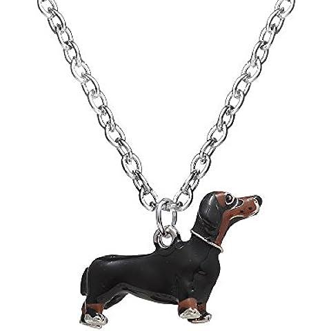 Creative gioielleria, collana con ciondolo a forma di cane bassotto