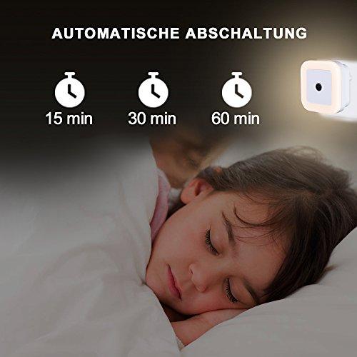 LED Nachtlicht mit Fernbedienung Einschlafhilfe, Dimmbar, Timer und Kind Stromsparend Steckdosenlicht - SOAIY 2er-Set - WarmWeiß, Steckdosenlicht, Schlummerleuchte, Schlafzimmer, Orientierungslicht, Nachtlicht, Kinderzimmer, Fernbedienung, einschlafhilfe kind