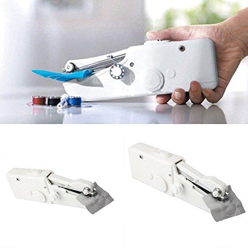 Hand-Nähmaschine Singer Portable Nähen Quick Handy Stitch Schnurlose Reparaturen (White) -