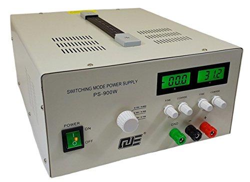 Komerci Regelbares Labornetzgerät Netzteil Stromversorgung PS900W mit 3 Betriebsmodi 15V/60A, 30V/30A oder 60V/15A Grau 60a Netzteil