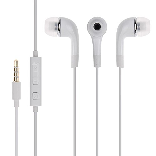 ShopMagics In-Ear Headphone for Samsung Galaxy Note 3 Neo / Samsung Note 3 (Note3) Neo Earphones Like Headsets | Best Performance Handsfree With Mic, Calling, Music, 3.5mm Jack - White