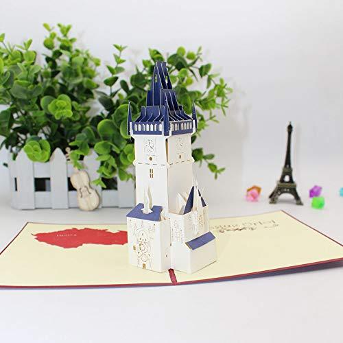 Preisvergleich Produktbild Weihnachtskrippe 3D Pop Up Grußkarte Prag Clock Tower Party Festival Geburtstag Grußkarte