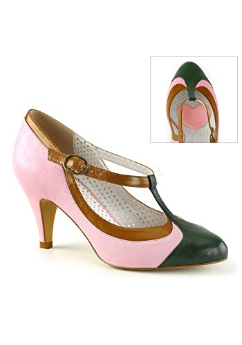 Pin Up Couture Peach-03 B.pink Multi Faux Cuir