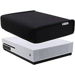 Pandaren® prueba de polvo Funda de neopreno cubierta protectores horizontal para Xbox One S (negro)