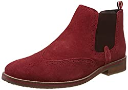 Bata Mens Clooney Red Suede Boots - 9 UK/India (43 EU) (8035110)