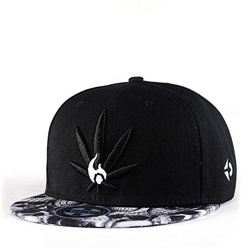 Snapback Hiphop Cap Cannabis Marijuana Weed Leaf Flat Peak Baseball Caps, Super Star Snakeskin Hip Hop Bling Unisex Hats für Jungen und Mädchen,A