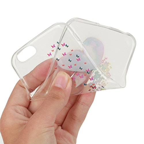 iPhone 6S Plus Hülle, iPhone 6 Plus Hülle, Gift_Source [ Bunte Schmetterlinge ] Hülle Case Transparent Weiche Silikon Schutzhülle Handyhülle Schutzhülle Durchsichtig TPU Crystal Clear Case Backcover B E1-Bunte Schmetterlinge