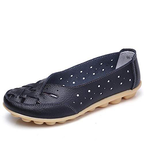 Gaatpot Damen Leder Schuhe Mokassin Bootsschuhe Leicht Loafers Flache Fahren Slippers Sommer Schuhe Frauen