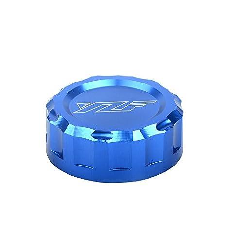 Motorcycle CNC Aluminium Arrière Réservoirs de Liquide de Frein Couvrir Rear Brake Fluid Reservoir Cap Cover pour YAMAHA YZF R1 YZF R6 2009-2016 YZF R3 YZF R25 2013-2016(Bleu)
